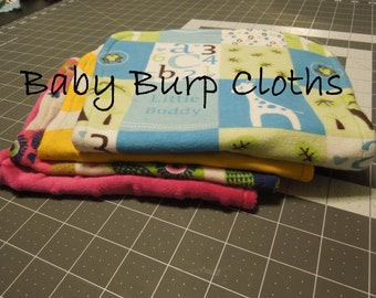 Sewing Pattern- Baby Burp Cloth Tutorial