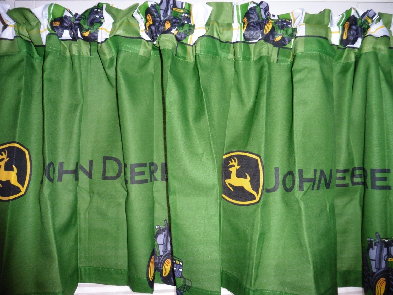 John Deere Tractor Window Valance Boys Room Decor 60