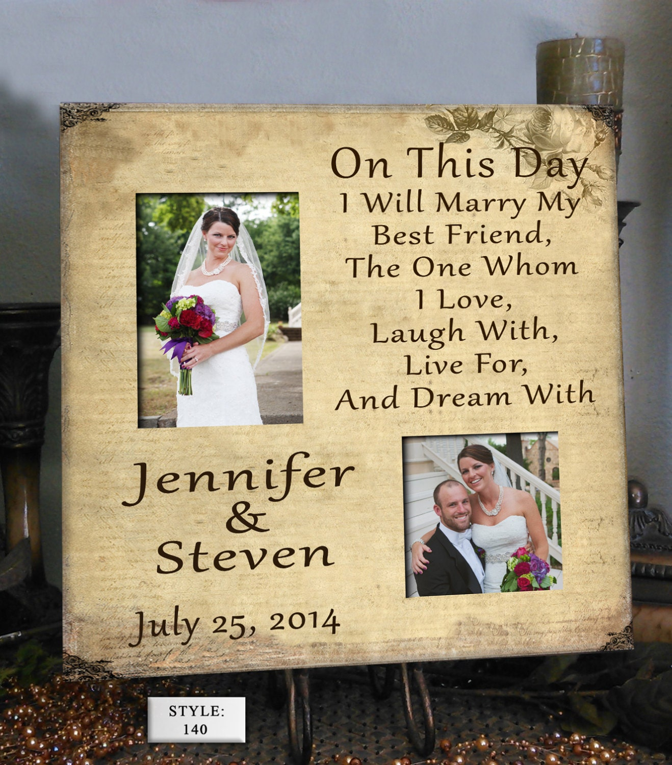 FRIEND Wedding Gift for Couple Wedding Gift by PhotoFrameCompany