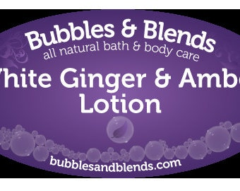 White Ginger and Amber Lotion