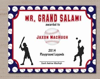 free baseball award certificate templates .
