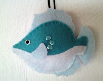 Felt fish ornament