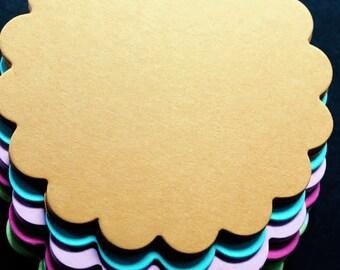 5.25 inch Scalloped  Circles 25/pk  |  Art Supplies | Card stock Buntings Supply | Scalloped Circles | Scalloped Card | School Supplies