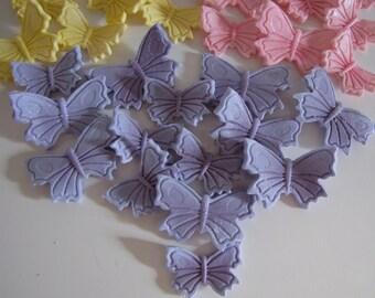 Fondant Butterfly Cake Decorations, Butterfly Cake Toppers, Butterfly CupCake Toppers, Fondant, Handmade Edible Butterflies