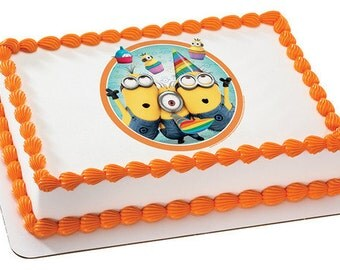 minion cake walmart despicable me minions edible cake or cupcake toppers 5934