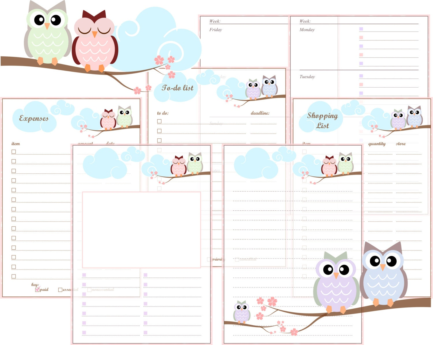 Handy image intended for free a5 planner printables