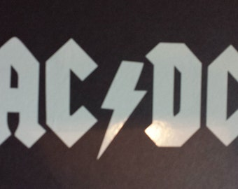AC/DC Window Vinyl Sticker, This will last longer than your car!!!!!!!!!!