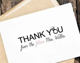 Printable DIY Thank You Card for weddings, engagement party, bridal shower
