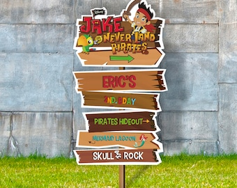 PERSONALIZED Jake and the neverland pirates arrow sign