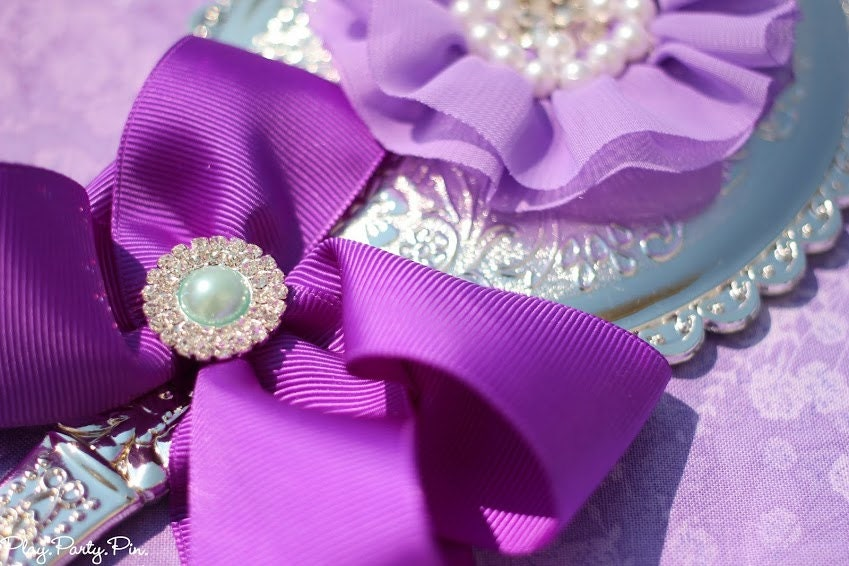 20 Purple Lavender Spa Party Hand Mirror Party Favors To Match