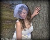 FREE SHIPPING Ready to ship wedding veil handmade Veil Bridal veil,Illusion Tulle Birdcage Veil ,Bandeau Style veil ,Blusher Veil Blush