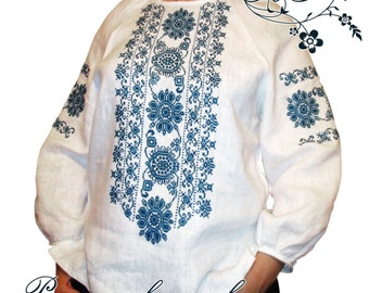 """Hand-Embroidered Ethnic """"Elegia2"""" blouse, made-to-order"""