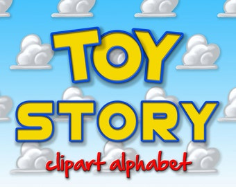 Toy Story Alphabet Clipart, Printable Toy Story Letters + Numbers + Punctuation, DIY Toy Story Invitations