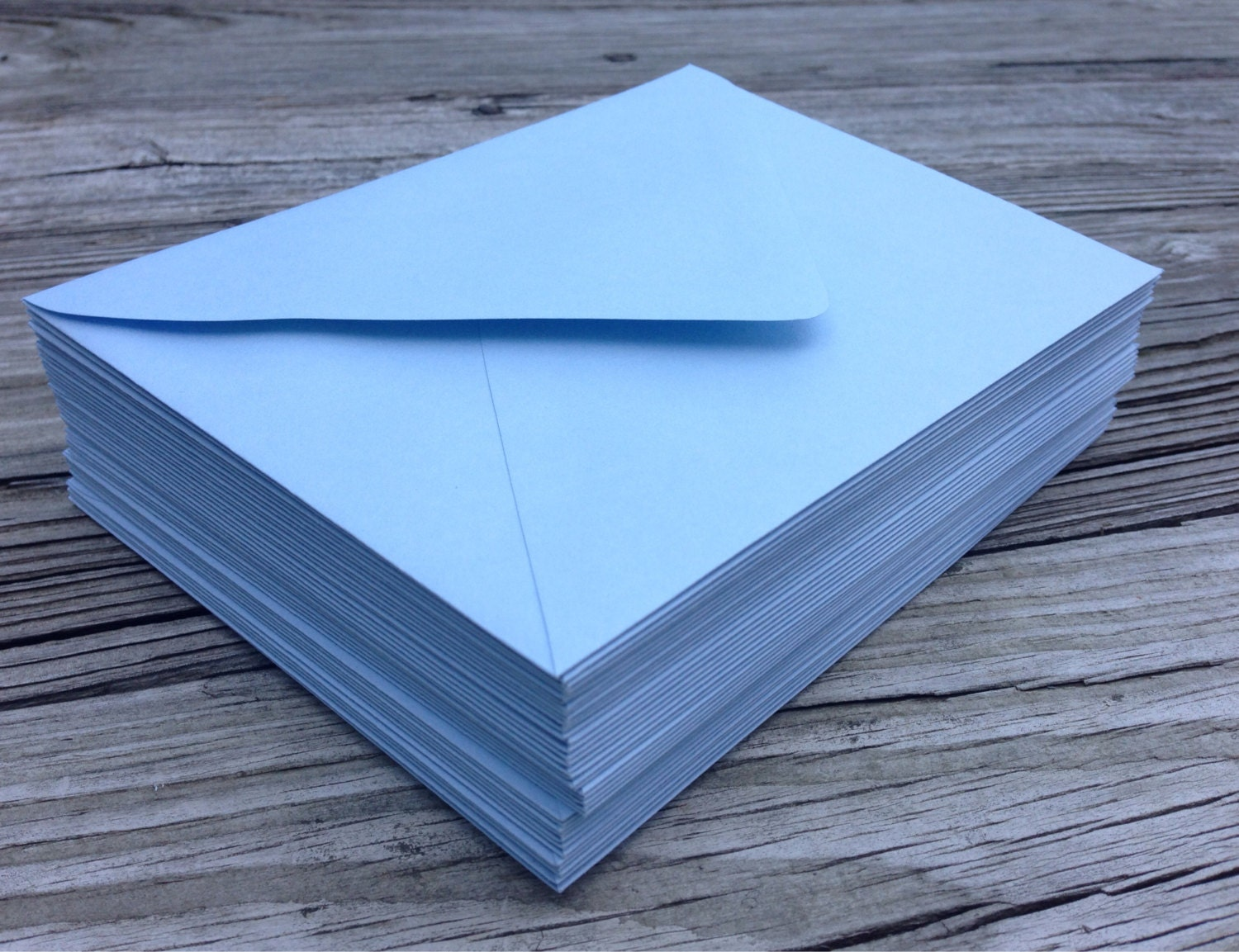 50 Baby Blue A7 5x7 Invitation Or A1 4bar Rsvp Pointed Flap