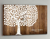 CANVAS Wedding Guest Book Wood - 200 Guests - Wedding Tree Wedding Guestbook Canvas Alternative Guestbook Canvas Guestbook - Wood design