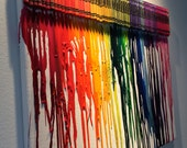 Melted Crayon Art on  Canvas Great for Playroom/ Art Room