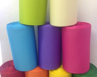 "5 ROLLS - 3"" Grosgrain - (FIVE) - One-Yard Rolls - Select 5 Colors! 3-inch Grosgrain - Great for Cheer Bows and Hair Bows"
