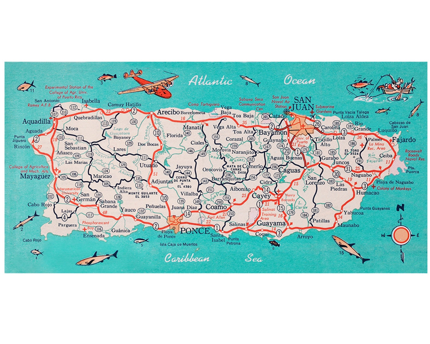 This is an image of Fabulous Printable Map of Puerto Rico