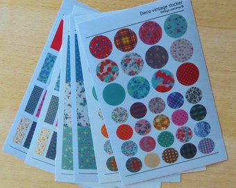 Washi tape/masking tape sticker sheets 6 x