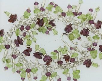 Rhodolite/Peridot Bracelet