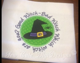 Good Witch Bad Witch Applique