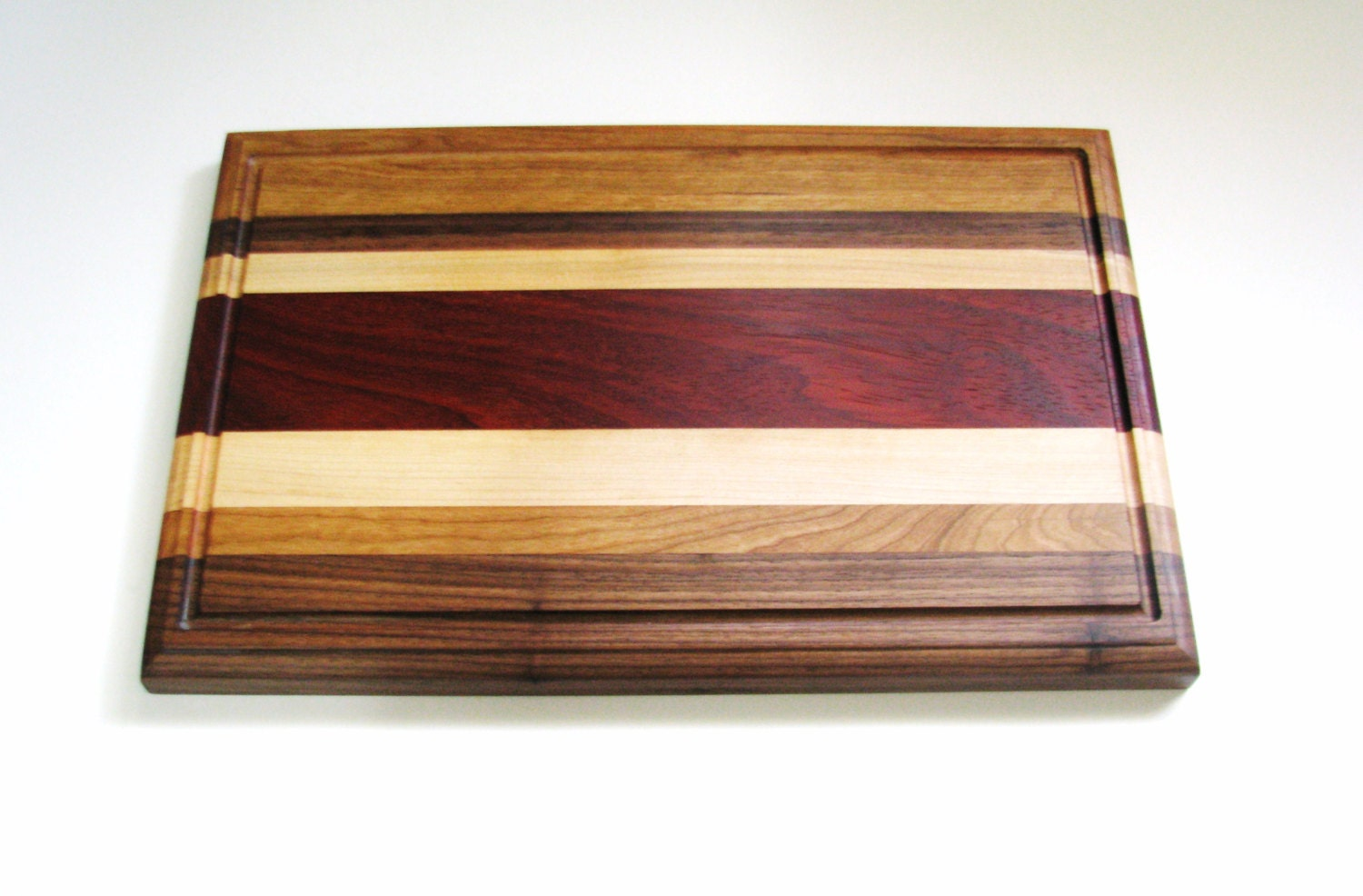 Solid wood cutting board maple walnut cherry by