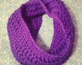 Chunky Crocheted Cowl Scarf