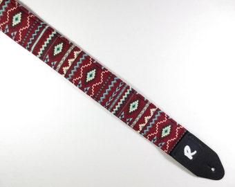 Southwestern Guitar Strap - Aztec - Tribal - Navajo - Handmade