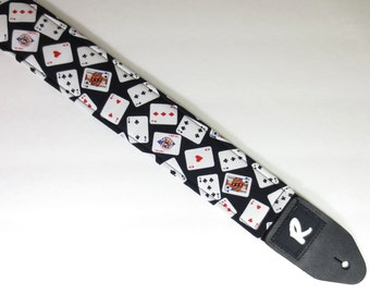 POKER Guitar Strap - Playing Cards - Ace - Casino