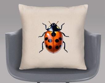 Ladybird Cushion Cover