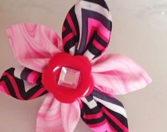 Pink Girl Dog Collar Flower- Accessory for Girl Dog's Collar