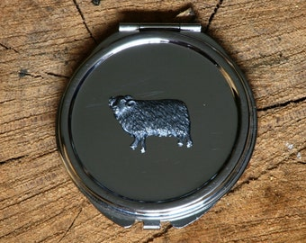 Sheep Compact Handbag Mirror Ladies Engraved Gift