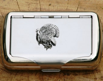 Turkey Hand Rolling Tobacco Cigarette Tin Bow Hunting Gift