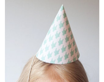 Printable Party Hat Set (Mint Green)