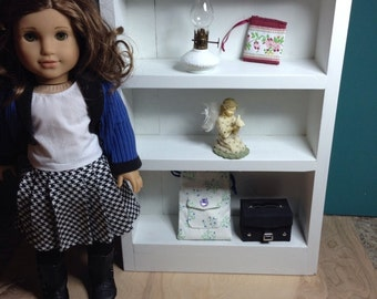 Doll Bookcase / Shelf for 18 Inch American Girl Dolls Furniture Beds Chairs Tables