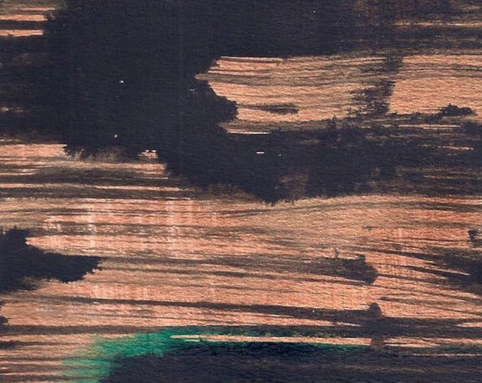 Asian Art-Copper Wall Art-Metallic Art-Modern Art-Abstract Painting-Original Painting-Small Wall Art-Black Art-Oriental Art-Home Decor Gifts