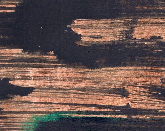 Asian Art-Copper Wall Art-Metallic Art-Modern Art-Abstract Painting-Original Painting-Small Wall Art-Christmas Gift-Home Decor Gifts
