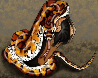 Corn Snake Print