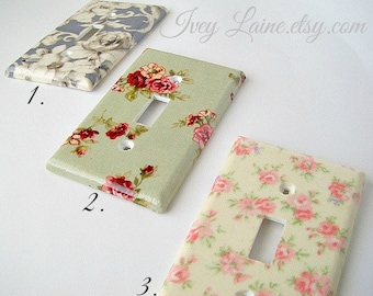 Shabby Chic Rose Light Switch Cover-Decorative Switch Plate Cover