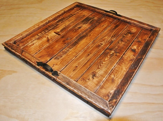 Tray Large Tray Ottoman Tray Serving Tray Rustic Tray