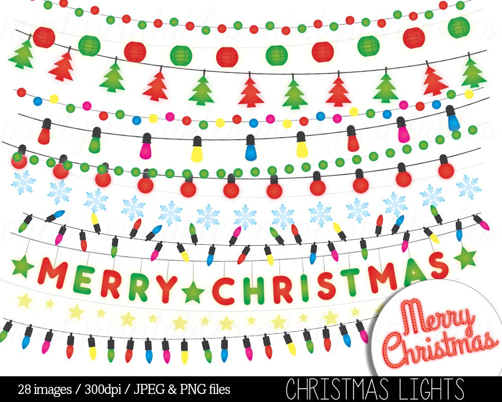 Christmas Lights Clipart String Lights Fairy Lights Clip