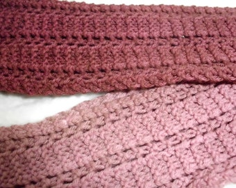 Women's lace hand dyed wool scarf