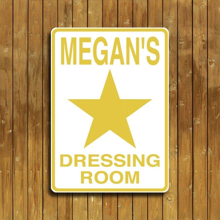 Personalized Dressing Room Sign By Thesignpost1 On Etsy