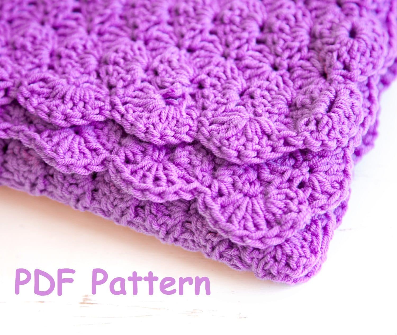 Crochet Shell Stitch Baby Blanket Pattern Easy Crochet