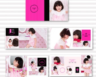 20 pages girl photo album template for photographer