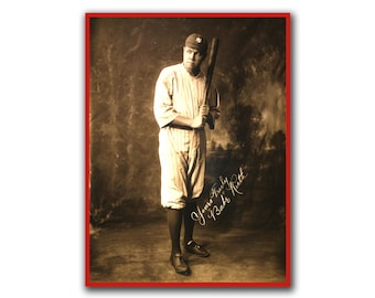 Babe Ruth Retro Baseball Art Wall Poster Print Sports Art Decor (H72)