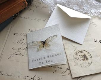 Pretty faerie wing mini card