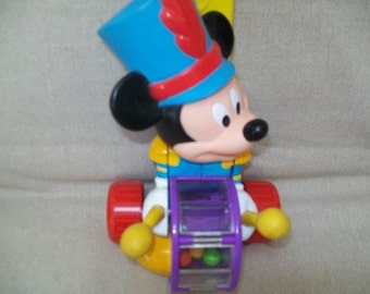 vintage Drummer Mickey popping push toy
