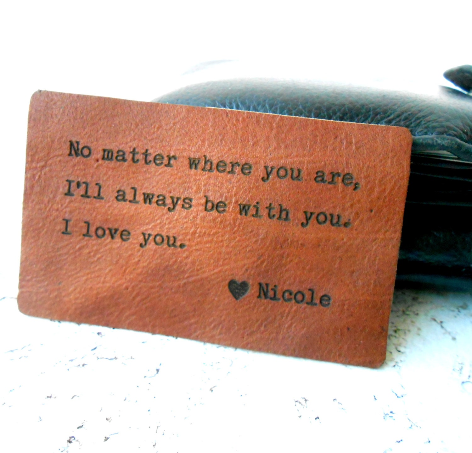 Wallet Insert Card Personalized Leather Wallet Insert Card