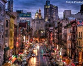 Chinatown at Night - Canvas Wrap